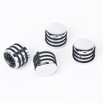 4 Pcs Rotary Knobs for 6mm Dia Shaft Potentiometer Silvery