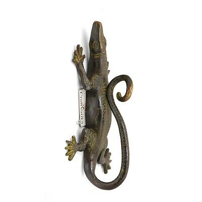 Lizard Brass Door Handle Antique Finish Vintage Style Handmade Pull Door Knob