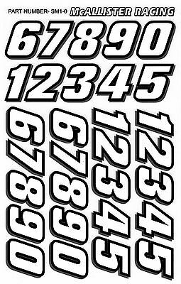 Mini Racing Number Decal Set for RC Cars, 1/12, 1/18, 1/16, 1/14 scales
