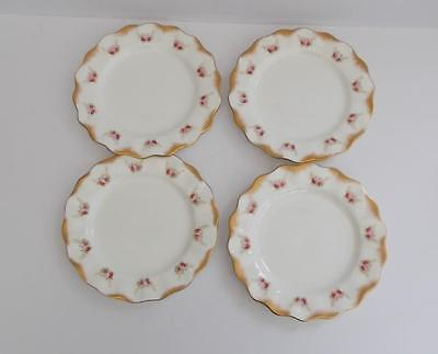 Antique Aynsley Hand Painted Set of 4 Tea/Side Plates.c.1890-1905.