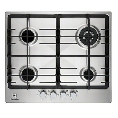 Electrolux EGG6343NOX | Stainless Steel Gas Hob, 4 burners, 60cm, Cast-Iron