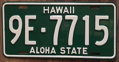 1961 Green Hawaii Aloha State Authentic New Retro License Plate Mint #9E-7715