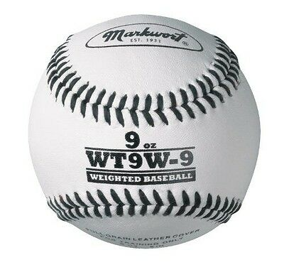 Markwort Lite Weight and Weighted Leather Baseball, White, 118ml