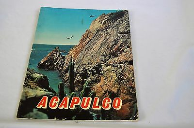 1960 Acapulco Travel Guide Mexico Vintage Brochure S Map Tourist Book Pictures