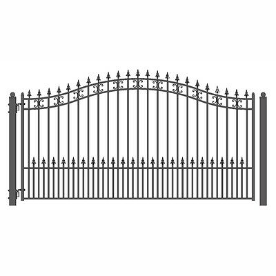 ALEKO St Petersburg Style Ornamental Iron Wrought Single Swing 12' Driveway Gate