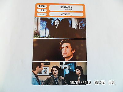 CARTE FICHE CINEMA 2000 SCREAM 3 Neve Campbell Courteney Cox David Arquette