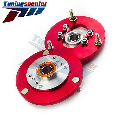 Pair for BMW E36 316 318 328 323 325 Coilover Top Mount Camber Plate 91-99 TCT