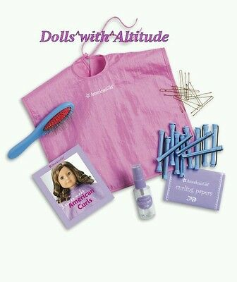 NEW AMERICAN GIRL HAIR CARE KIT FOR DOLLS CURLERS BRUSH Hairstyle Essentials Set