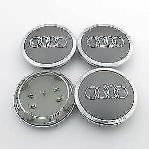 4 x AUDI CENTRE CAPS 69mm alloy wheel center Badges A 1 2 3 4 5 6 8 Q RS S TT