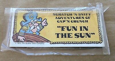 "1975 Quaker Oats Cap'n Crunch Scratch N Sniff ""Fun In The Sun"" NIP"