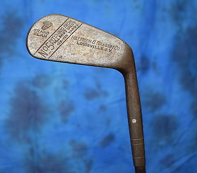 Antique Hillerich And Bradsby Co Metal Shaft Golf Club 5 Iron