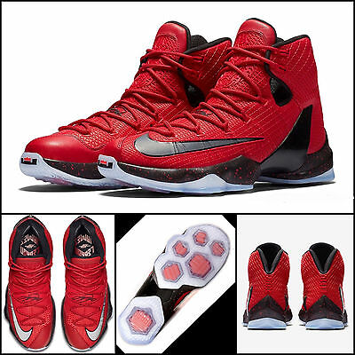 "Nike Lebron XIII Elite ""Lions Head"" Basketball Shoes Trainers Red UK 12 US 13"