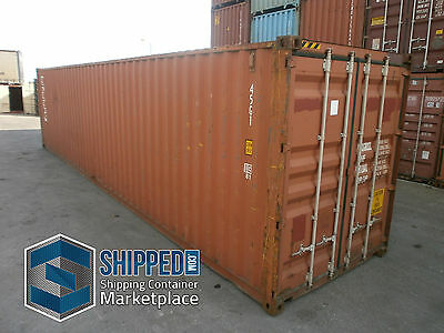 40FT HIGH CUBE CERTIFIED CARGO WORTHY USED SHIPPING CONTAINER in Miami, Florida