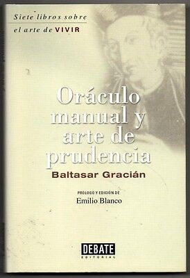 Oraculo Manual Y Arte De Prudencia - Baltasar Gracian