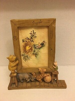 DISNEY Classic WINNIE THE POOH Charpente Picture Frame Approx 3.5x4