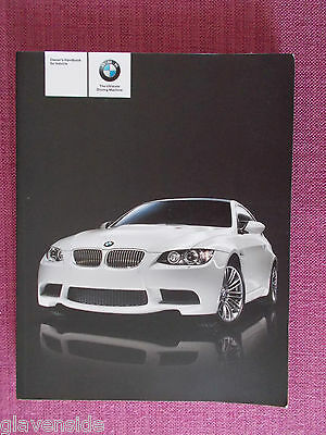 BMW 3 SERIES COUPE & CONVERTIBLE HANDBOOK - OWNERS MANUAL WITH iDrive   ACQ 4916