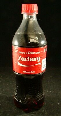 Share A Coke With ZACHARY Collectible Personalized Coca Cola Bottle 20 Fl Oz