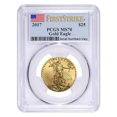 2017 1/2 oz Gold American Eagle PCGS MS 70 First Strike