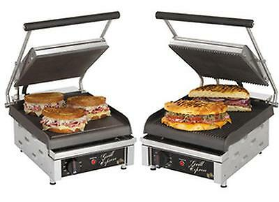 Star 10In Smooth Or Grooved 2-Sided Sandwich Panini Grill 120V - Gx10I