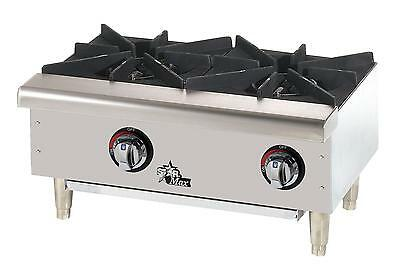 Star 602HWF Star-Max Side-By-Side 2 Burner Countertop Gas Hot Plate