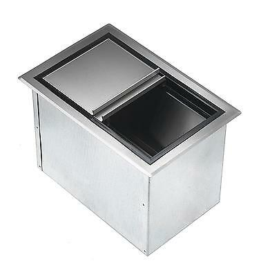 "Krowne Metal D278 20"" x 15"" Drop-In Ice Bin Insulated with Sliding Cover S/s"