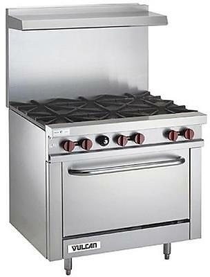 """Vulcan 36SFF-6BN Endurance 36"""" Range with 6 Burners and Bakery Depth Oven-Nat"""