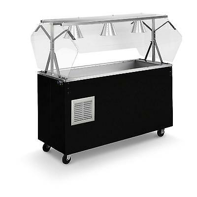 "Vollrath R38716 60"" Portable Refrigerated Food Station w/ Solid Base Black"