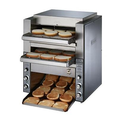 Star DT14 Holman Double 14in W Belt 1000 slices/hr Conveyor Toaster