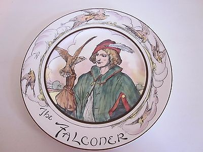 """Royal Doulton Professionals Plate The Falconer 10.50""""  # D6279 England"""