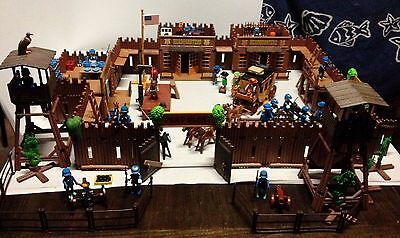 Lot Playmobil Fort Glory Vintage-3 Qg-Canon- Diligence-Potence-Cavalerie...
