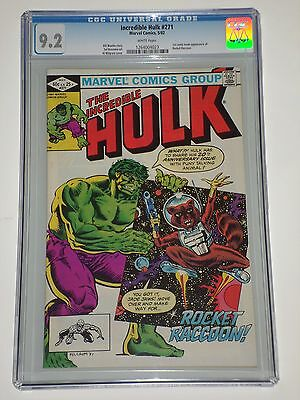 Incredible Hulk 271 CGC Graded 9.2 NM- 1st Comic Appearance of Rocket Raccoon