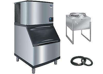 "Manitowoc Indigo 30"" Half-Dice Ice Maker 510lb Air Cooled Remote Set"