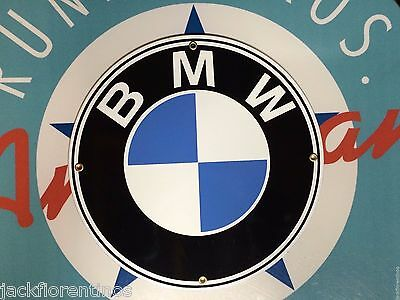 BMW - the ultimate driving machine -  PORCELAIN COATED METAL SIGN