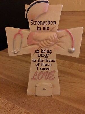Nurse's Cross Strengthen In Me to Bring Joy To The Lives of Those I Serve LOVE
