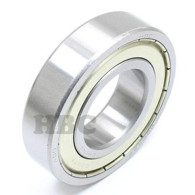 Radial Ball Bearing Hbc 6207-Zza3 With 2 Metal Shields Chevron A-3 Zv1 Or Better