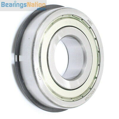 Radial Ball Bearing Hbc 6306-Zznr Medium Series 2 Metal Shields & Retaining Ring