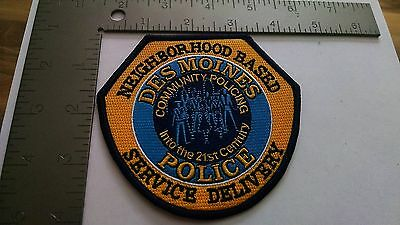 Iowa Police Patch Patches Group I Des Moines Neighborhood Based Service Delivery