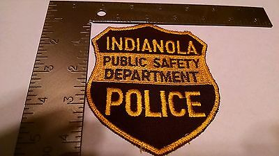 Iowa Police Patch Patches Group I Indianola Public Safety Department
