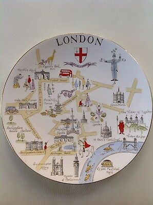 Vintage Tuscan Fine English Bone China City of London Plate