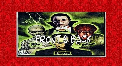 Dracula Frankenstein Horror Movie Mummy Vintage Vinyl Checkbook Cover