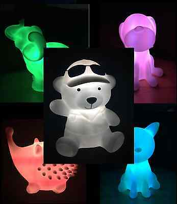 Multi Changable Colour Bedside Baby Kids Night Light Rechargeable LED
