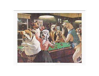 """Unframed Pool Themed Print """"Scratched At Dawn"""" - 20 x 16 In [ID 31431]"""