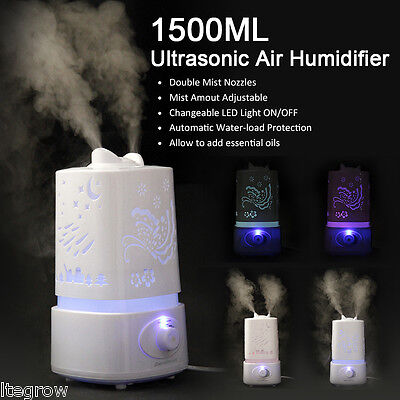 Excelvan 1.5L Air Humidificadores Ultrasonic Diffuser Purifier Aroma Nebulizer