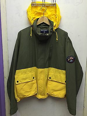 Vintage Ralph Lauren Polo Sport Jacket Large Hoodie Patch
