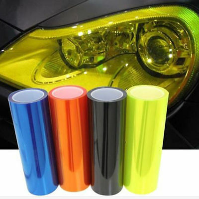 12 Color Luxury Car Headlight Fog Light Taillight Yellow Vinyl Film Wrap Sticker