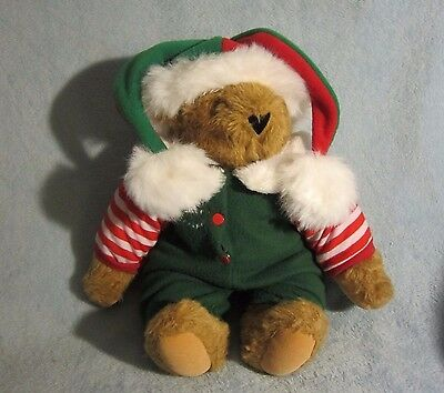 Vermont Teddy Bear Christmas Holiday Elf Outfit Santa's Helper Collectible Plush