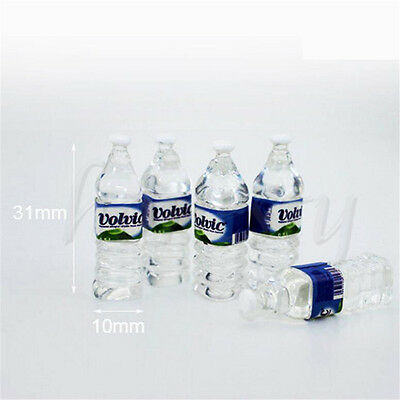 5pcs Mini Mineral Water Bottle 1:12 Dollhouse Miniature Accessory Drinking Toy