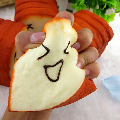 Bread Jumbo Toast Squishy Expression Card Cellphone Holder Hand Pillow Toy Sell
