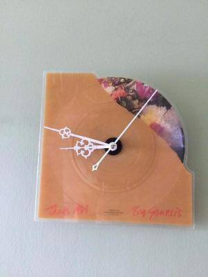 """Genesis That's All Shaped 7"""" Picture Disc  Vinyl  Record Clock"""