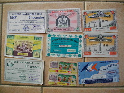 Lot 18 Billets Loterie Nationale Annees 1930 1940